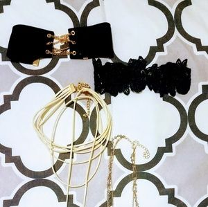 Jewelry - 4 choker style necklaces